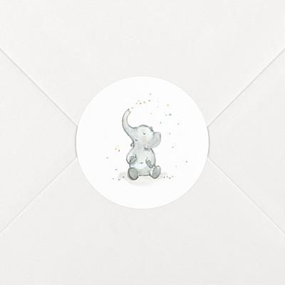 Elephant family white baby stickers