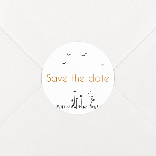 Wedding Envelope Stickers Rustic promise white - View 2