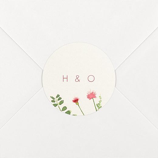 Wedding Envelope Stickers Spring blossom beige - View 2