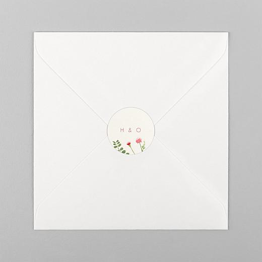 Wedding Envelope Stickers Spring blossom beige - View 1