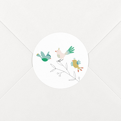 Birds of a feather pink baby stickers