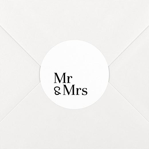 Wedding Stickers Mr & mrs white - View 2