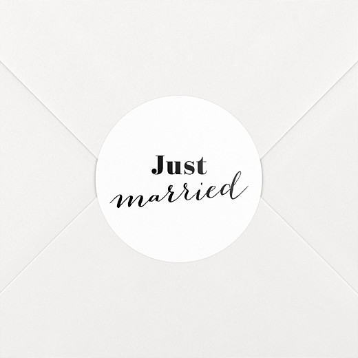 Wedding Stickers Just married white - View 2