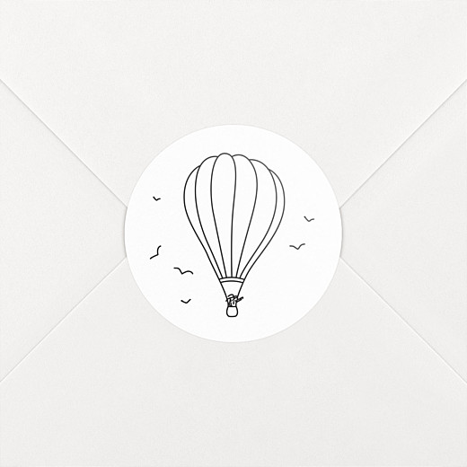Wedding Stickers Rustic promise balloon - View 2