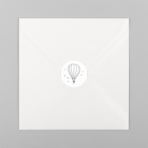 Wedding Stickers Rustic promise balloon - View 1