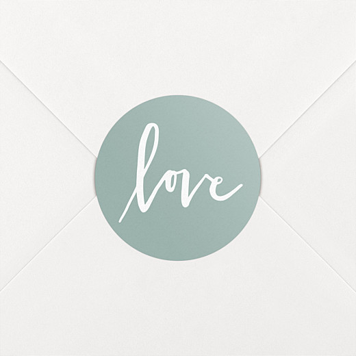 Wedding Stickers Love letters green - View 2