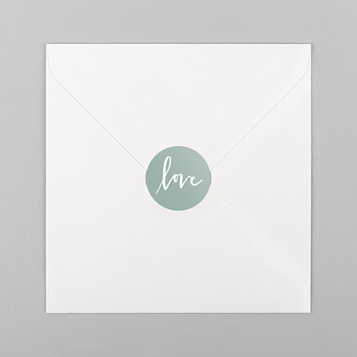 Wedding Stickers Love letters green - View 1