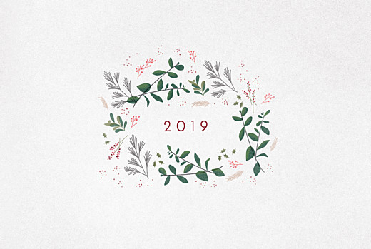 Christmas Cards Winter wreath (4 pages) white