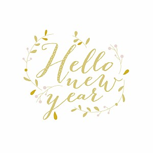 Hello new year (4 pages) yellow yellow christmas cards