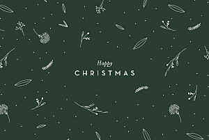 Festive foliage (4 pages) green christmas cards