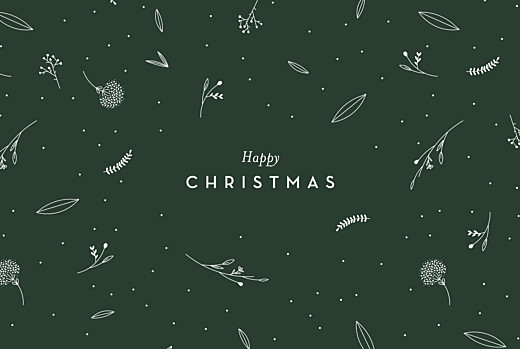 Christmas Cards Festive foliage (4 pages) green