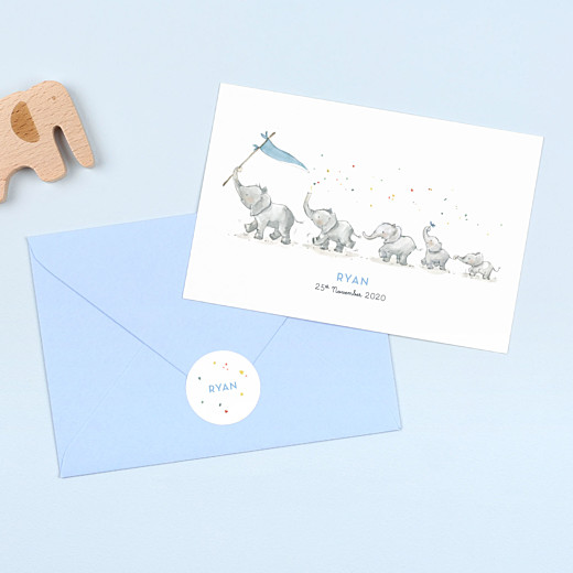 Baby Stickers Elephant family white - Gamme