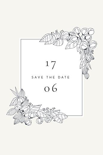 Save The Date Cards Secret garden white