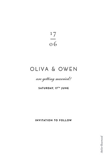 Save The Date Cards Secret garden white - Page 2
