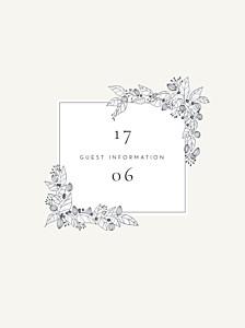 Secret garden white guest information cards