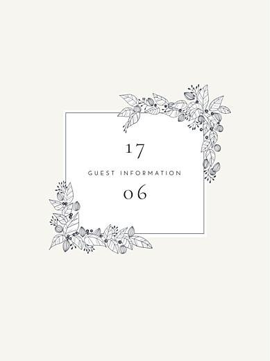 Guest Information Cards Secret garden white