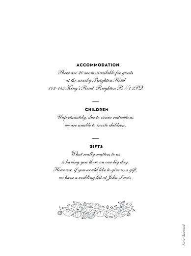 Guest Information Cards Secret garden white - Page 2