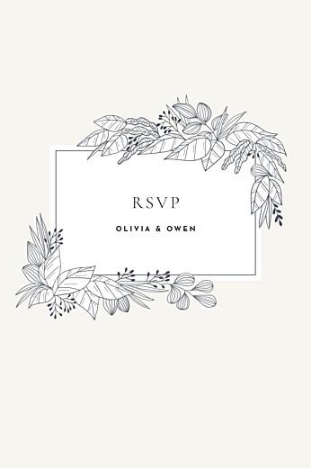 RSVP Cards Secret garden white
