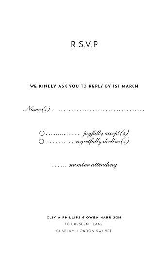 RSVP Cards Secret garden white - Page 2