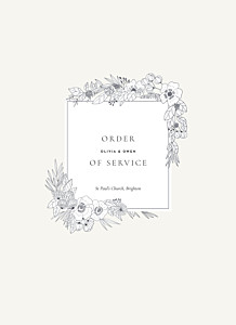 Secret garden white order of service booklets