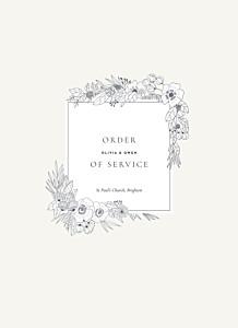Secret garden white order of service booklets