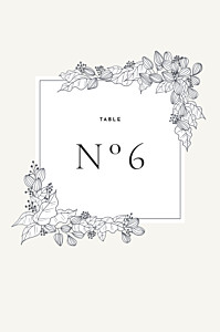 Secret garden white table numbers