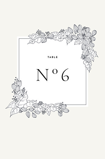 Wedding Table Numbers Secret garden white