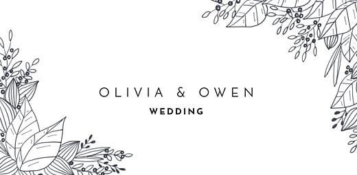 Wedding Place Cards Secret garden white