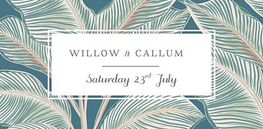 Wedding Place Cards Calathea blue - Page 4