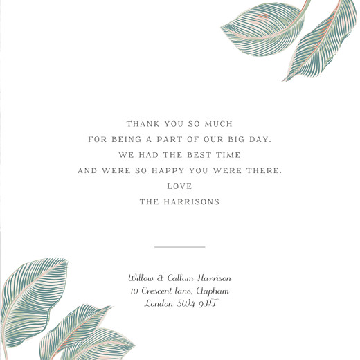Wedding Thank You Cards Calathea (4 pages) blue - Page 3