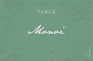 Aloha green table numbers