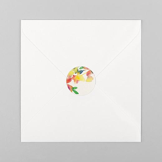 Wedding Envelope Stickers Bloom beige - View 1