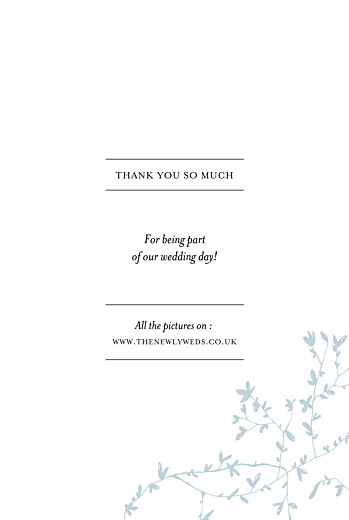 Wedding Thank You Cards Reflections (4 pages) green - Page 3