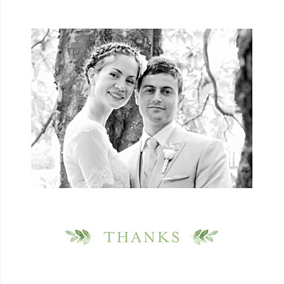 Wedding Thank You Cards English garden green finition