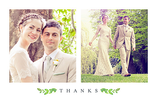 Wedding Thank You Cards Canopy green