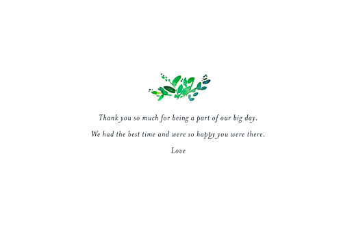 Wedding Thank You Cards Canopy green - Page 3