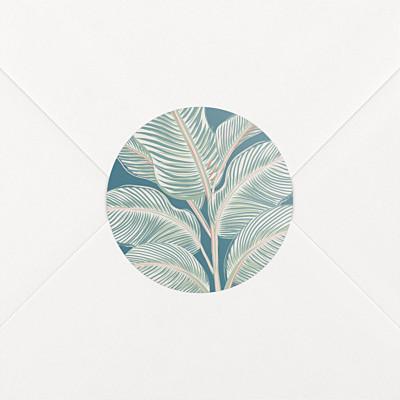 Calathea blue wedding stickers