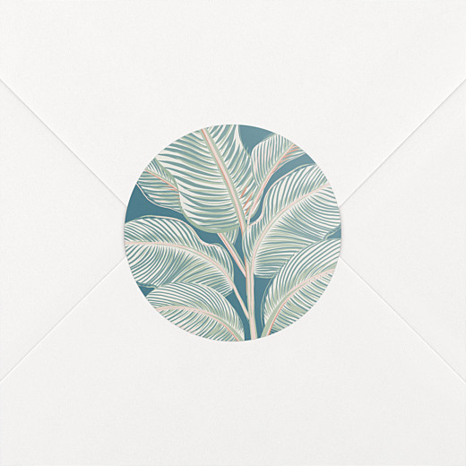 Wedding Stickers Calathea blue - View 2