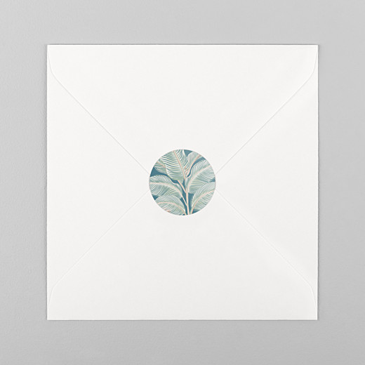 Wedding Stickers Calathea blue - View 1