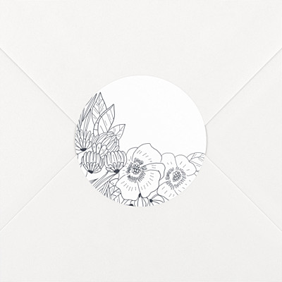 Secret garden white wedding stickers