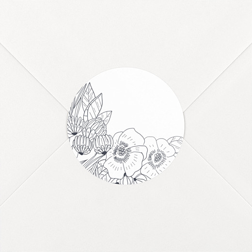 Wedding Envelope Stickers Secret garden white - View 2