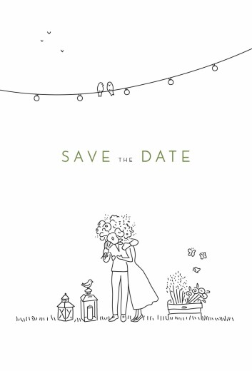Save The Date Cards Bohemian promise white