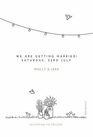 Save The Date Cards Bohemian promise white - Page 2