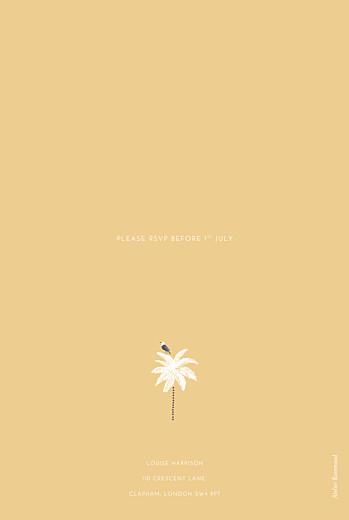 Birthday Invitations Palm trees yellow - Page 2