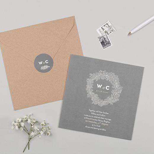 Wedding Envelope Stickers Baby's breath grey - Gamme