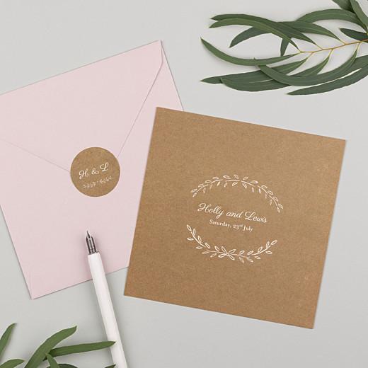Wedding Envelope Stickers Poem kraft - Gamme