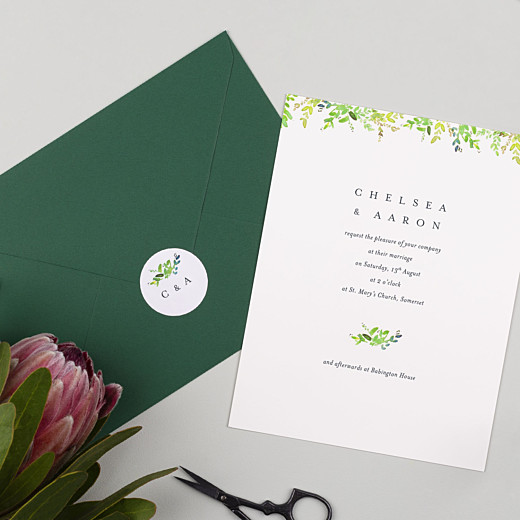 Wedding Stickers Canopy green - Gamme