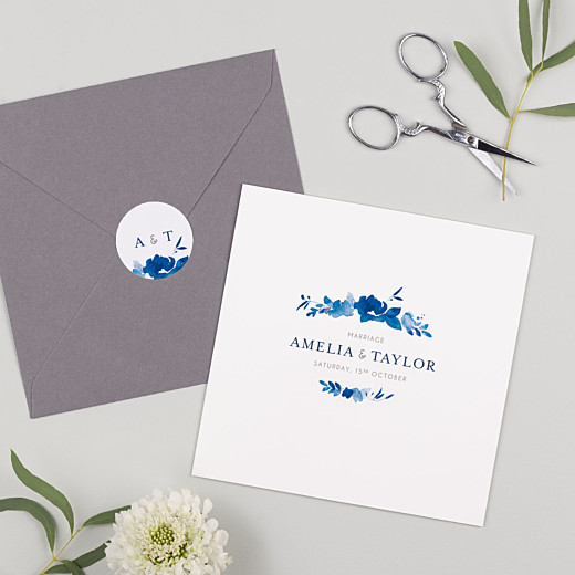 Wedding Stickers English garden blue - Gamme