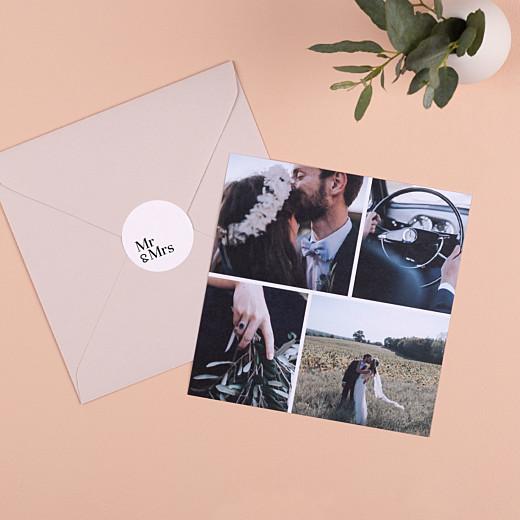 Wedding Stickers Mr & mrs white - Gamme