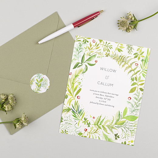 Wedding Stickers Forest whisper green - Gamme